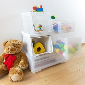 収納ボックス 前開き 幅60×奥行42×高さ31cm KABAKO カバコ ワイド M ( 収納ケース フタ付き 収納 ケース ボックス スタッキング おもちゃ箱 プラスチック )|livingut|12