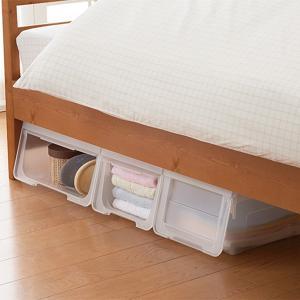 収納ボックス 前開き 幅60×奥行42×高さ31cm KABAKO カバコ ワイド M ( 収納ケース フタ付き 収納 ケース ボックス スタッキング おもちゃ箱 プラスチック )|livingut|19