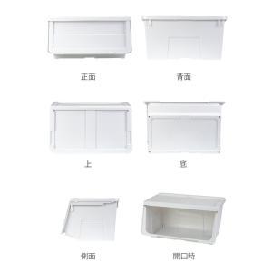 収納ボックス 前開き 幅60×奥行42×高さ31cm KABAKO カバコ ワイド M ( 収納ケース フタ付き 収納 ケース ボックス スタッキング おもちゃ箱 プラスチック )|livingut|03