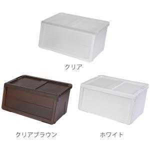 収納ボックス 前開き 幅60×奥行42×高さ31cm KABAKO カバコ ワイド M ( 収納ケース フタ付き 収納 ケース ボックス スタッキング おもちゃ箱 プラスチック )|livingut|04