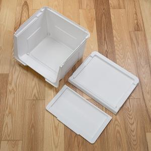 収納ボックス 前開き 幅60×奥行42×高さ31cm KABAKO カバコ ワイド M ( 収納ケース フタ付き 収納 ケース ボックス スタッキング おもちゃ箱 プラスチック )|livingut|06