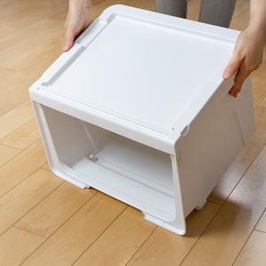 収納ボックス 前開き 幅60×奥行42×高さ31cm KABAKO カバコ ワイド M ( 収納ケース フタ付き 収納 ケース ボックス スタッキング おもちゃ箱 プラスチック )|livingut|07