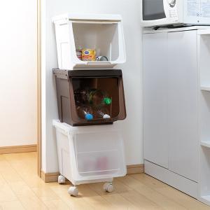 収納ボックス 前開き 幅60×奥行42×高さ31cm KABAKO カバコ ワイド M ( 収納ケース フタ付き 収納 ケース ボックス スタッキング おもちゃ箱 プラスチック )|livingut|09