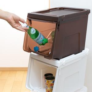 収納ボックス 前開き 幅60×奥行42×高さ31cm KABAKO カバコ ワイド M ( 収納ケース フタ付き 収納 ケース ボックス スタッキング おもちゃ箱 プラスチック )|livingut|10
