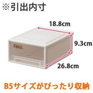 収納ケース Fits フィッツ フィッツケース スモール 引き出し プラスチック ( 収納 収納ボックス 衣装ケース 小物収納 ) livingut 02