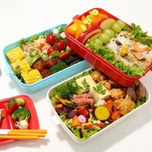ピクニックランチボックス お弁当箱 レジャーランチボックス 3段 取り皿付き チェリー ( お重 運動会 行楽 )|livingut|06