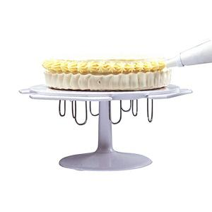 デコレーションスタンド ケーキ用 回転台 ピン付き ( ケーキ デコレーション 飾り付け台 製菓道具 )|livingut