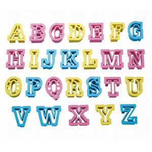 クッキー型 抜き型 アルファベット 26個セット プラスチック製 ( クッキー抜型 クッキーカッター 製菓グッズ )|livingut