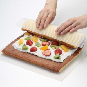 巻きす シリコンまきまきウェーブ シリコン製 ( ロールケーキ 巻き寿司 製菓グッズ 調理道具 )|livingut
