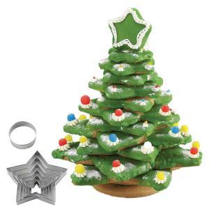 クッキー型 立体 クリスマスツリー もみの木型 抜き型 ステンレス製 ( 組み立て 組立て 製菓グッズ 抜型 パンケーキ )|livingut