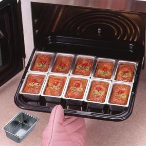 パウンドケーキ型 ミニパウンド型 小 スチール製 スズメッキ ( 焼き型 ケーキ型 製菓道具 )|livingut
