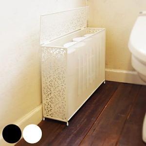 トイレットペーパーストッカー 12ロール ファミーユ スチール製 トイレットペーパー収納 トイレットペーパーラック ( 収納ラック スタンド トイレ収納 )の写真