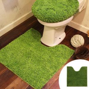 SHIBAFU トイレマット 60×60cm 芝生 ( トイレ用品 トイレタリー )|livingut
