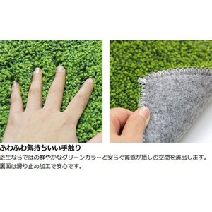 SHIBAFU トイレマット 60×60cm 芝生 ( トイレ用品 トイレタリー )|livingut|03