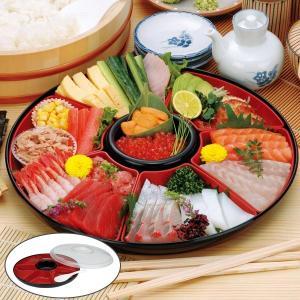 手巻き寿司セット プラスチック 食器 手巻き御膳 ふた付き しゃもじ付き オードブル容器 ( 手巻き寿司 食器 お皿 オードブル皿 パーティー 大皿 )|livingut