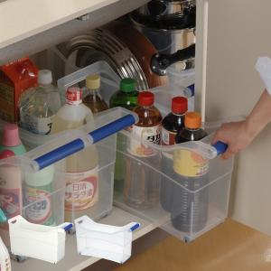 シンク下ストッカー キャスター付き ハンドル付き プラスチック製 キッチン収納 ( 収納ストッカー 収納ケース キッチンラック 整理ケース )