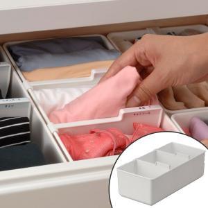 仕切りボックス 下着収納ケース M 仕切り付 ( 引き出し チェスト 仕切りケース )の写真