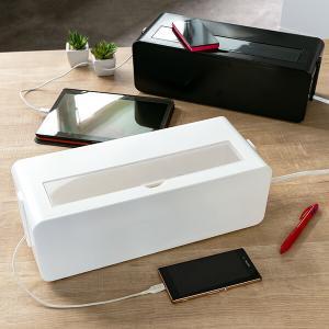 ケーブルボックス タップ 長さ37cm 対応 タップ収納 コード 収納 収納ボックス ( ケーブル収...