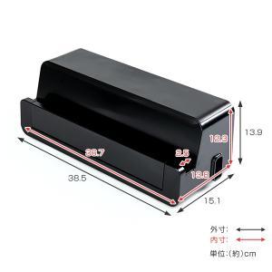 テーブルタップステーション 充電スタンド スマホ・タブレット・モバイル用 ( 充電ステーション コード収納 充電器 収納ケース )|livingut|05