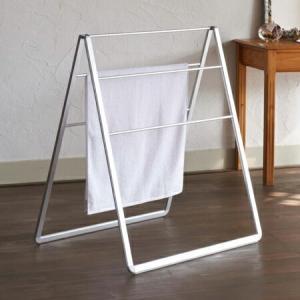 ランドリースタンド ippin A-スタイル L 洗濯物干し タオルスタンド 折りたたみ ( 物干しスタンド 室内物干し バスタオルハンガー )|livingut