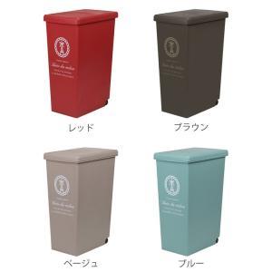 ゴミ箱 45リットル ふた付き スライドペール 45L ( ごみ箱 ダストボックス キッチン )|livingut|03