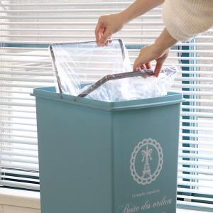ゴミ箱 45リットル ふた付き スライドペール 45L ( ごみ箱 ダストボックス キッチン )|livingut|07