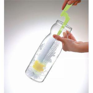 回転ロングボトルブラシ( キッチン スポンジ たわし 水筒洗い 哺乳瓶用ブラシ ) livingut