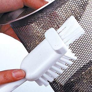 キッチンブラシ 排水口ブラシ L型ブラシ 排水口用 三角コーナー用 フック付き ( 洗浄用品 掃除用具 掃除用品 ) livingut