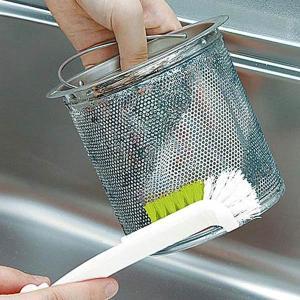 折り曲げ排水口ブラシ L型ブラシ 折り畳み式ハンドル 排水口用