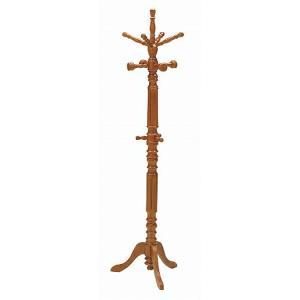 ポールスタンド 大 天然木 ブラウン ( コートハンガー ハンガーラック 木製 )|livingut