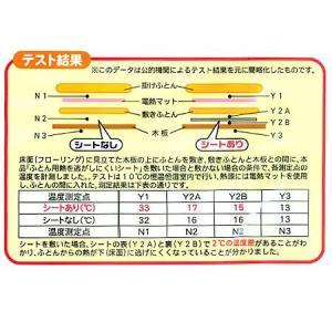 保温シート 防ダニふとん用 熱を逃がしにくいシート 90×180cm ( 断熱シート 保温マット アルミマット )|livingut|02