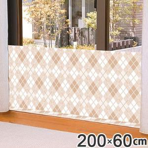 |特価| 冷気対策 窓 冷気シャットパネル 幅200×高さ60cm チェック L ( 寒さ 対策 防寒 パネル 窓 ボード )