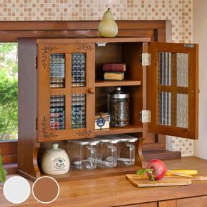 調味料ラック 3段 アンティーク調 キッチン収納 幅45cm ( 調味料入れ 調味料ケース カウンターラック カウンター上収納 収納ラック 木製 )|livingut