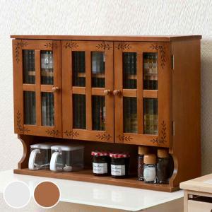 調味料ラック 3段 アンティーク調 キッチン収納 幅68cm ( 調味料入れ 調味料ケース カウンターラック カウンター上収納 収納ラック 木製 )|livingut