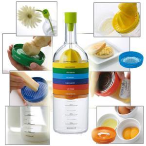 キッチンツール 調理器具8点セット BIN8 ビンエイト ( 計量カップ 薬味おろし ロート )|livingut