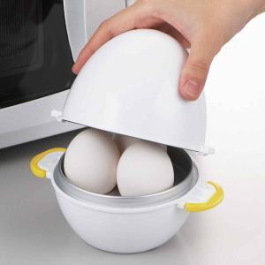 レンジでゆで卵 レンジでらくチン ゆで卵 3個用