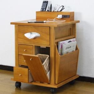収納ワゴン ベッドサイドワゴン 桐製 幅43cm ( サイドテーブル テーブルワゴン 収納用品 木製 )|livingut