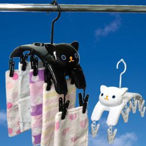 ピンチハンガー ねこのしっぽ 洗濯ハンガー 物干しハンガー|livingut