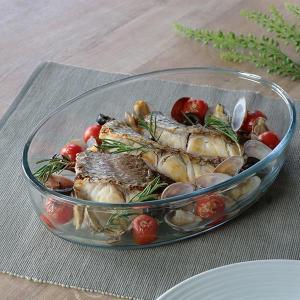 キントー KINTO グラタン皿 大皿 オーバル 26cm Bulkitchen 耐熱ガラス オーブ...