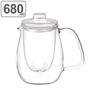 キントー KINTO UNITEA ガラスティーポットセット L ( 紅茶ポット 急須 ガラスポット ポット ガラス 食洗機対応 茶こし付  )|livingut