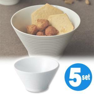 キントー KINTO ローカス ボウル ボーダー 5個セット ( 和食器 器 茶碗  ) livingut