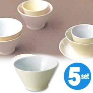 キントー KINTO アース ボウル イエロー 5個セット ( 和食器 器 茶碗  ) livingut