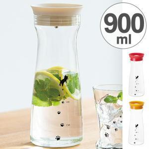 冷水筒 カラフェ 足あとカラフェ 900ml ( ピッチャー 冷水ポット 麦茶ポット )|livingut