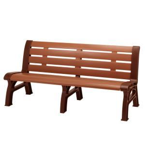 木調エコベンチ 再生樹脂製 160cm ブラウン 2〜3人掛け ( 長椅子 屋内 屋外 )