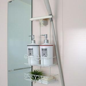 シャワーラック 2段 シャワーホルダー ボヌール 石鹸皿付き ( シャワー ラック スタンド )の写真