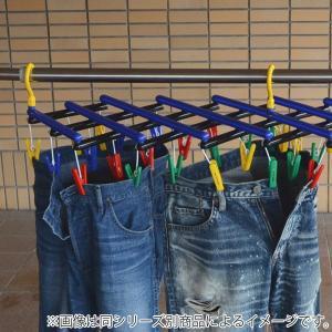 洗濯ハンガー フリーピンチャー29 ピンチ29個付 伸縮ハンガー ブルー ( 角ハンガー ピンチハンガー 伸縮 スリム )|livingut|07