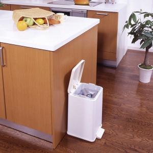 ゴミ箱 ふた付き ペダル式 セパ バケツペダルペール 12L ( ペダル ダストボックス ごみ箱 )|livingut|05