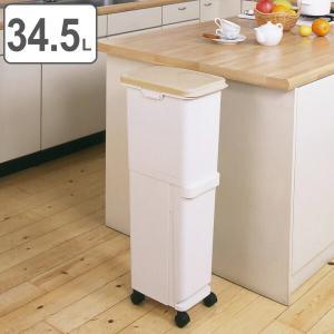 ゴミ箱 ふた付き 分別 スリム セパ 2段 34.5L ( ダストボックス ごみ箱 キッチン )|livingut