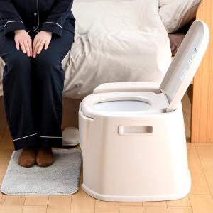 ポータブルトイレ デラックス型 ( 介護用トイレ 福祉 介護 排泄関連用品 )|livingut