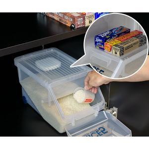 米びつ 新防虫米びつ 5kg 計量カップ付 防虫剤付き ( ライスボックス 米櫃 こめびつ )|livingut|04